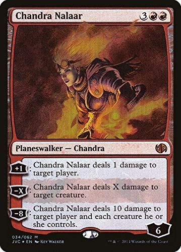 Chandra Nalaar 34/62 Foil Duel Decks: Jace vs. Chandra Mythic Rare Planeswalker Magic: The Gathering Trading Card - Englisch - Cardicuno