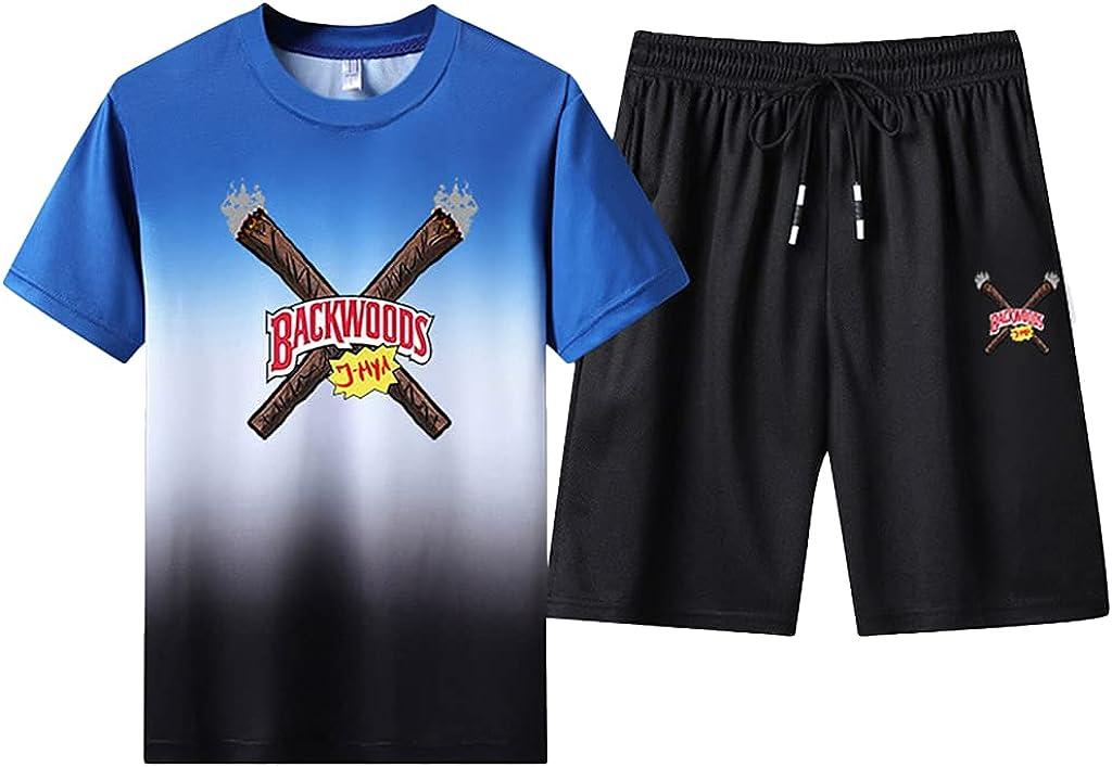 Unisex Backwoods Cigar Tops Backwoods Tshirts and Pants Sport Backwoods Shirt and Shorts Set Casual Boys Hiphop Tops