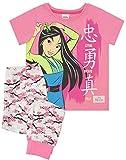 Mulan Pijamas Set Larga de Color Rosa de Disney Leal Valiente Chica verdadera