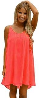 Misaky Women's Summer Spaghetti Strap Sundress Sleeveless Beach Slip Dress