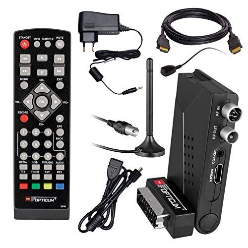 HB Digital DVB-T/T2 Set Opticum HD AX Lion Air 2 HEVC DVB-T/T2 receptor+antena...