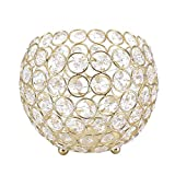 Tosuny - Candelabro de té de cristal para centros de decoración de mesa de boda, cumpleaños, celebración de casa, decoración del comedor (oro, plata, 15 cm)