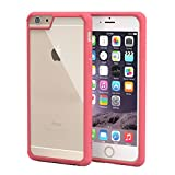 iPhone 6s Case, roocase [Plexis] iPhone 6s Slim Fit Ultra Clear Back PC/TPU Skin Case Cover for Apple iPhone 6 / 6s (2015), Magenta