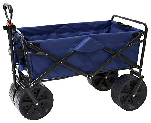 Mac Sports Heavy Duty Collapsible Folding All Terrain Utility Beach Wagon Cart,...