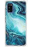 Croazhi Galaxy A31 Hülle Cover Schutzhülle Kompatibel mit Samsung Galaxy A31 Hülle Handyhülle Silikon Transparent Glitzer Marmor Rosa Blumen Muster Original Design Hüllen Tasche für A31 Handy