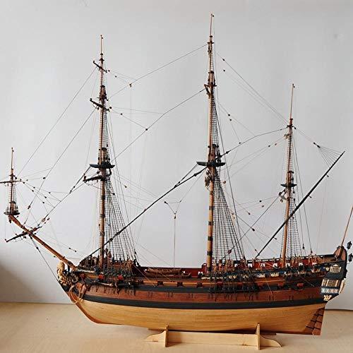 YAOHM Escala 1/96 clásica de Madera del Modelo de Nave Rusa Kit Ingermanland Modelo de Barco de Madera