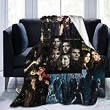 Talcholar The Vampire Diaries Print Theme Fleece Throw Blanket Suitable for Bedding Sofas All Season 50'' x40 Black