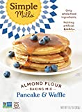 Simple Mills Almond Flour Mix, Pancake & Waffle, Naturally Gluten Free, 10.7 oz, Pack of 3