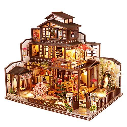Blanket Kit casa delle Bambole Fai-da-Te in Miniatura, Kit di modellismo architettonico con Carillon a LED per mobili, Artigianato Fatto a Mano per Regalo di Compleanno