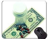 ユニークなカスタムマウスパッドマウスパッド、お金のコスト紙幣ノンスリップラバーベースマウスパッド