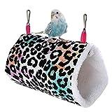 GuangLiu Jaulas para Agapornis Jaulas para Pajaros Jaula de Ratas Accesorios Hámster Cama Conejo de la Cama Cálido Nido de Pájaro Leopard Print 1,L
