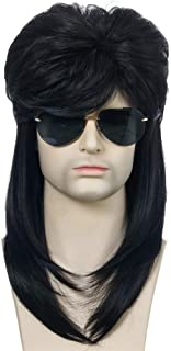 Nishore WIG-M03 High-temperature Synthetic Fiber Wigs Heat Resistant Long Hairpiece Metal Rocker Disco Hair Wig for Men Co...