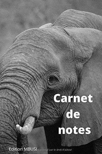 Carnet de notes: Eléphant - Carnet de notes ligné pour les amoureux des pumas. Joli cadeau pour les amis de la nature