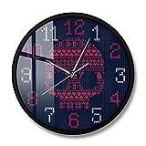 Reloj de Pared con Cabeza de Calavera de Estilo Noruego esca