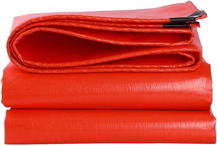 KYCD Grande bache avec des Oeillets bache Jardin Piscine Couverture de Sol Feuille Coupe-Vent imperméable Couverture Camping Tente extérieure sous-Couche (Couleur   Orange jaune, Taille   3 x 6m)