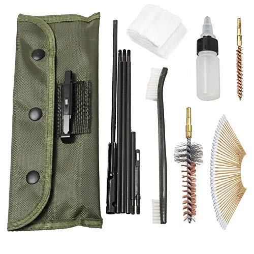 BigTron Nylon Rod Cleaner Brush Gun Accessories Clean Tools Portable 22 22LR. 223 and 556 Cleaning Rifle Gun Cleaning Kit Set, 60 PCS