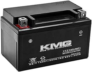 KMG Battery for Yamaha 350 YFM35R Raptor 2004-2012 YTZ10S Sealed Maintenance Free Battery High Performance 12V SMF OEM Replacement Powersport Motorcycle ATV Scooter Snowmobile