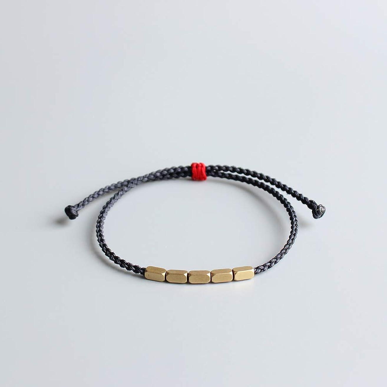 TALE Lucky Rope Bracelet Tibetan Buddhist Hand Braided Knots Couple bangle- Thin Edition- Deep Grey