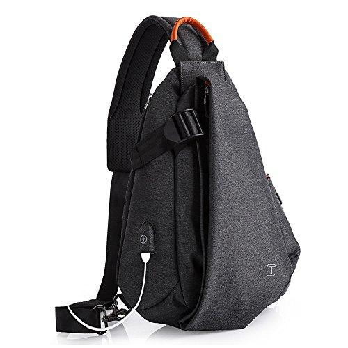 Olanstar, zaino, borsa per fotocamera con tracolla regolabile, perfetto per lo sport all'aria aperta, l'escursionismo, il ciclismo, l'alpinismo, i viaggi e la scuola, OLA0012K, Vulkanisches Schwarz
