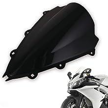 CREAL Motocicleta Soporte de la Pantalla del Parabrisas, Parabrisas Deflector de Viento Moto Protección adecuados para Aprilia RSV4 R RSV4R RS4 2009-2016,Negro