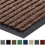 Gorilla Grip Original Commercial Grade Rubber Floor Mat, 29x17, Heavy Duty, Durable Doormat for Indoor and Outdoor, Waterproof, Easy Clean, Low-Profile Mats for Entry, Patio, High Traffic, Brown