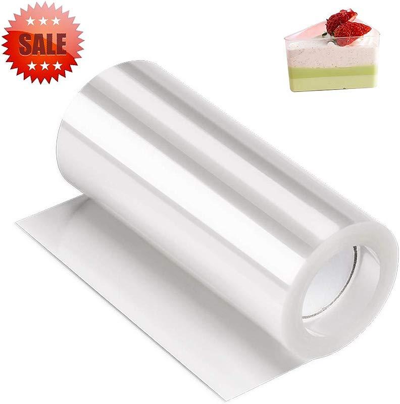 Acetate Sheets Cake Collar Kasmoire Acetate Roll 4 Inch 32 8 Feet Transparent Chocolate Mousse Collar Baking Surrounding Edge Cake Decorating Supplies Tools