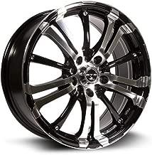 RTX, Alloy Wheel/Rim, ARSENIC, New, Black Machined, 17x7, 5x100, 42, 73.1, 413151