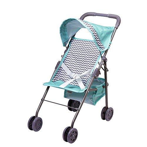 Adora Zig Zag Stroller in Teal Pattern with Medium Shade Umbrella, Model:217605