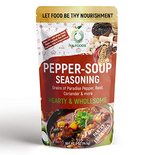 Iya Foods Authentic Pepper Soup Seasoning 2 ounces, No Preservatives, No Added Color, No Additives, No MSG