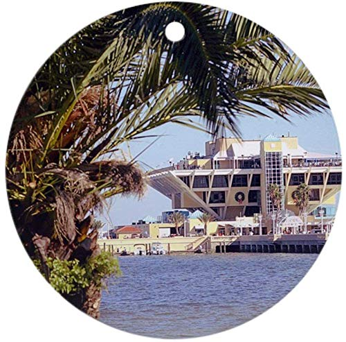 10CIDY St. Pete Pier Round Ornament - Round Holiday Christmas Ornament Holiday and Home Decor Round Xmas Gifts Christmas Tree Ornaments Ideas 2019