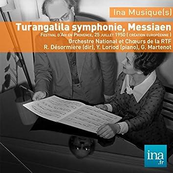 Turangalila symphonie, Messiaen, O. National et Choeurs de la RTF