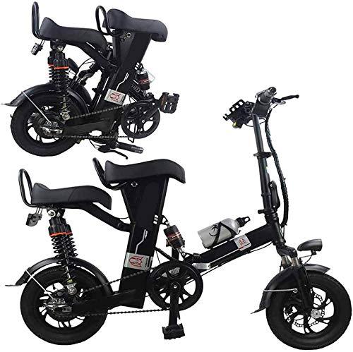 Bicicletas Eléctricas, Plegable bicicleta eléctrica for los adultos mayores de 12 pulgadas con 350W 48V de la batería de litio de la ciudad de cercanías E-Bici con Smart Instrumento LCD y alarma antir