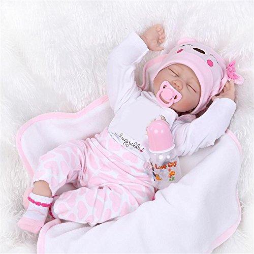 GAW Toys Soft Realistisch wiedergeboren Baby Puppe Haare Wurzel Soft Silikon-Puppe M?dchen Geschenke Urlaub Hochzeit reduzieren Angst Helfen Autismus Schwangere Frauen