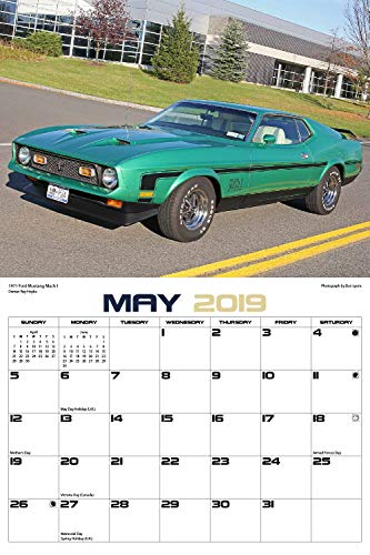 Classic Mustangs 2019 Calendar