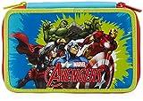 Astuccio per Scuola Avengers, 3 Scomparti, Poliestere, Blu