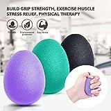 Peradix Egg Balle Anti Stress,Balle Reeducation de La Main Antistress Ball résistance pour Doigt et Balle Anti-Stress