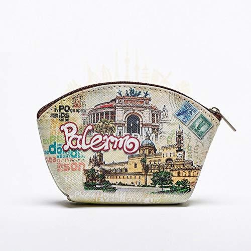 Z-MIN Cartoon Creative Pu Coin Purse Italy Travel Souvenir Ladies Wallet, Italy