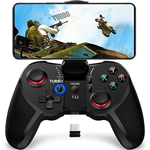 Controller di gioco mobile TERIOS per Android, controller per PC, telecomando da gioco per smartphone, PS3, Windows, riproduzione istantanea e funzione Turbo