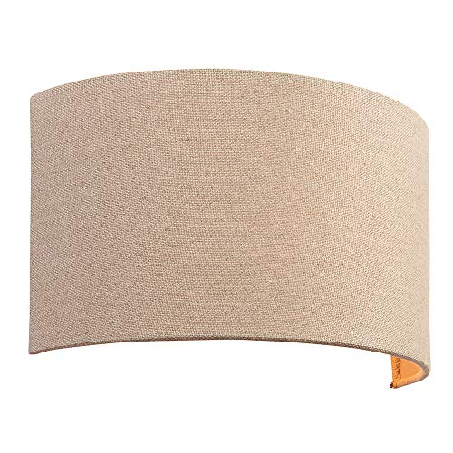 Endon 70335 Obi Modern Contemporary Decorative Linen Wall Light Glass Fabric Metal Ip20 220 240v