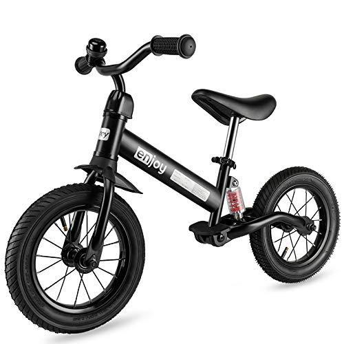besrey Bicicletta Senza Pedali Ruota Gomma Gonfiabile Bici Senza Pedali con Ammortizzatore Centrale (Nero)