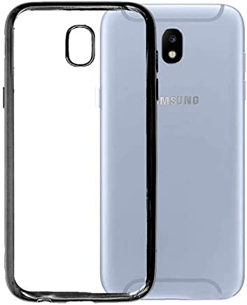 Jinyama for Samsung Galaxy J5 2017 (5.2 inch) Soft Transparent TPU Jelly Protective Case Cover, Clear Back Cover, Ultra Slim Scratch Resistant Full Back Protection Jelly Skin Case Backcover - Black
