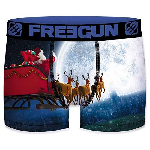 Freegun - Calzoncillos para niños, colección de Navidad Père Noël Fly 6-8 Años
