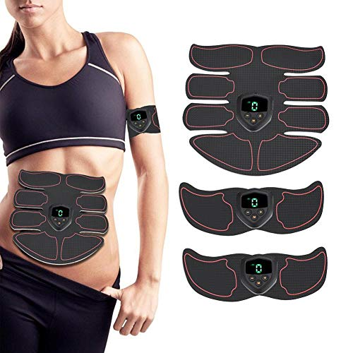 Abdominal Muscle Belt Muscle Toner EMS Body Muscle Trainer USB Rechargeable Abdominal Training Gear Workout Equipment for Men Women