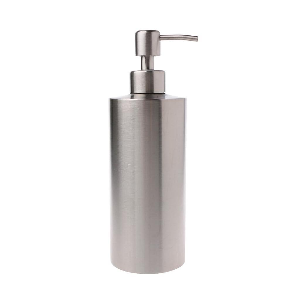 凍結滞在アイドルLamdoo 304ステンレス鋼ポンプ液体石鹸ローションディスペンサーボトルキッチンバスルーム