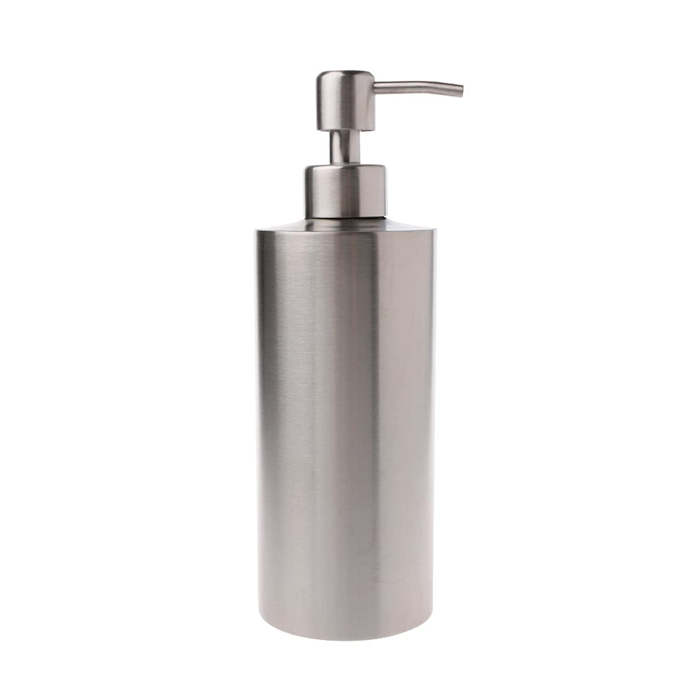 数字壊滅的な該当するLamdoo 304ステンレス鋼ポンプ液体石鹸ローションディスペンサーボトルキッチンバスルーム