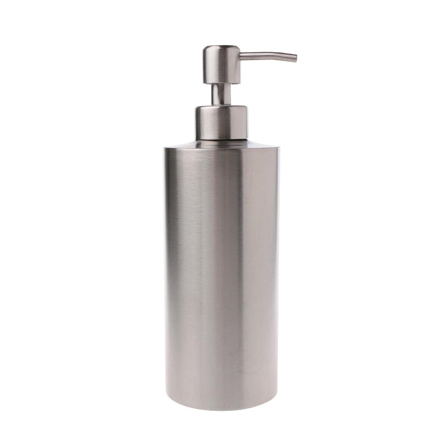 政権つかまえる帳面Lamdoo 304ステンレス鋼ポンプ液体石鹸ローションディスペンサーボトルキッチンバスルーム