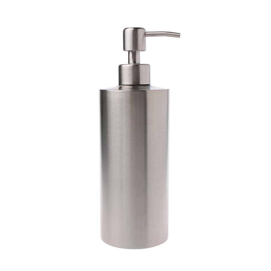 趣味雑草有名Lamdoo 304ステンレス鋼ポンプ液体石鹸ローションディスペンサーボトルキッチンバスルーム