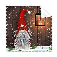 クリスマス サンタクロース 雪の結晶 口ひげ フェスティバル イラスト パターン メガネ クロス クリーニング クロス 携帯電話 スクリーン クリーナー 5個