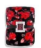 Victoria's Secret Bold Red Floral Sherpa Blanket