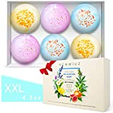 Organic Hemp Bath Bombs Gift Set Infused with Lavender, Chamomile, Ylang ylang Essential Oils, Epsom Salt & Shea Butter -Spa Fizzes Best Birthday Gift for Women, Mother, Christmas